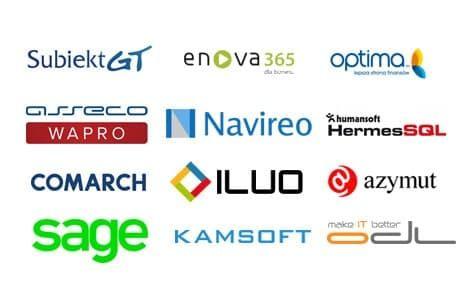 loga firm z programem ERP z możliwością integracji